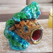 הדג הצבעוני - אבן כורכר מרשימה
