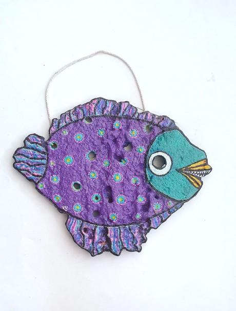 דג מאבן כורכר - דגם סגול מחורר