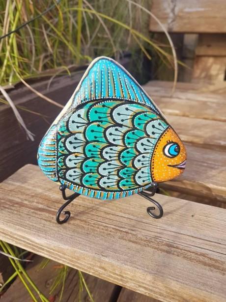 דג דגם סנפיר כחול